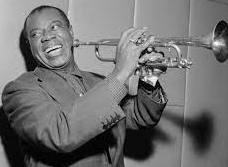 Il musicista, trombettista e cantante Jazz Louis Armstrong